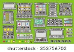 complete set of graphical user... | Shutterstock .eps vector #353756702