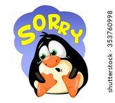 penguin  facial expressions   Shutterstock . vector #353760998