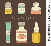 Set Of Bottled Art Materials...