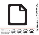file  document  icon | Shutterstock .eps vector #353775386