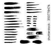 brush strokes set hand drawn... | Shutterstock .eps vector #353778476