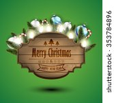 wooden sign width christmas...   Shutterstock .eps vector #353784896