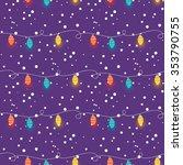 hand drawn christmas lights... | Shutterstock . vector #353790755