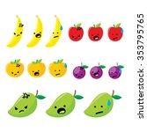 emoticon fruit | Shutterstock .eps vector #353795765