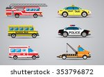 set of the isolated transport... | Shutterstock . vector #353796872