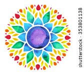 7 color of chakra sign symbol ... | Shutterstock . vector #353801138