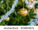 decorated christmas  on blurred ... | Shutterstock . vector #353804876