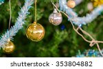 decorated christmas  on blurred ... | Shutterstock . vector #353804882