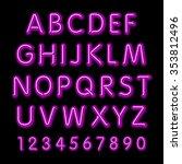 neon glow alphabet.  design... | Shutterstock . vector #353812496