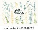set of vector herbs.... | Shutterstock .eps vector #353818322