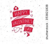 happy valentines day doodle.... | Shutterstock .eps vector #353821838