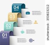 tape business steps chart... | Shutterstock .eps vector #353823212