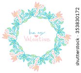 valentines day decoration. cute ...   Shutterstock .eps vector #353830172