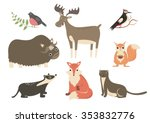 the forest animals cartoon... | Shutterstock .eps vector #353832776