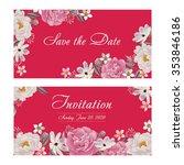 flower wedding invitation card  ...   Shutterstock .eps vector #353846186