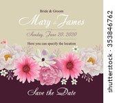flower wedding invitation card  ... | Shutterstock .eps vector #353846762