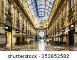 Glass dome of Galleria Vittorio Emanuele in Milan, Italy