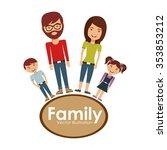 happy family design  vector...   Shutterstock .eps vector #353853212