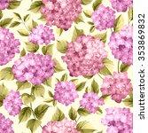 Purple Flower Hydrangea On...