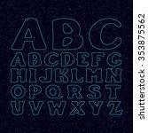 star font vector. space... | Shutterstock .eps vector #353875562