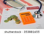 medical bill with stethoscope   ... | Shutterstock . vector #353881655