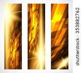 set of bright digital banners... | Shutterstock .eps vector #353882762