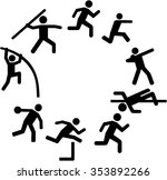 decathlon icons arranged in a... | Shutterstock .eps vector #353892266