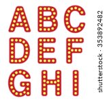 alphabet letters with retro... | Shutterstock . vector #353892482