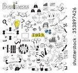 business doodles | Shutterstock .eps vector #353897426