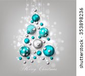 christmas invitation with... | Shutterstock .eps vector #353898236