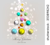 christmas invitation with... | Shutterstock .eps vector #353898242