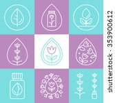essential oils outline icons or ... | Shutterstock .eps vector #353900612