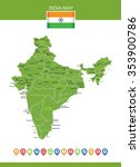india map | Shutterstock .eps vector #353900786