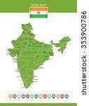 india map | Shutterstock .eps vector #353900786