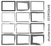 set grunge black frames on a... | Shutterstock .eps vector #353903648