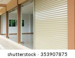 steel metal door  roller... | Shutterstock . vector #353907875