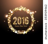 2016 golden letters new years... | Shutterstock .eps vector #353939462
