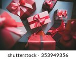 packaged boxes with gifts... | Shutterstock . vector #353949356