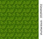 Small photo of leaves clover trefoil shamrock pattern St. Patrick green background Irish Culture