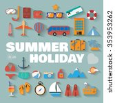 summer infographics. travel... | Shutterstock . vector #353953262