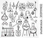 set of trendy alchemy symbols... | Shutterstock .eps vector #353959832