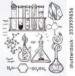 hand drawn science beautiful... | Shutterstock .eps vector #353959856