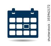 calendar icon | Shutterstock .eps vector #353962172