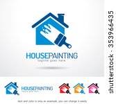 house painting logo template... | Shutterstock .eps vector #353966435