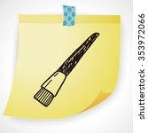 doodle brush   Shutterstock .eps vector #353972066