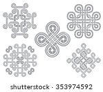 set of traditional hand drawn... | Shutterstock .eps vector #353974592
