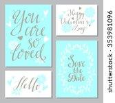 wedding invitation cards design ... | Shutterstock .eps vector #353981096