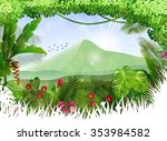 tropical background beautiful... | Shutterstock .eps vector #353984582