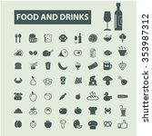 food  drinks  grocery  icons ... | Shutterstock .eps vector #353987312
