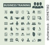 business training  icons  signs ... | Shutterstock .eps vector #353987582